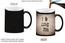 amazon com i love you with heart magic color changing ceramic