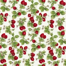and hubble strawberries quilting cotton fabric by the yard