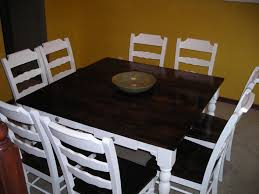 How To Set A Dining Room Table White Refinished Dining Room Set Diy Projects Refinishing A