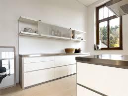 edelstahl küche grifflose designküche b1 mit insel in weiß und edelstahl