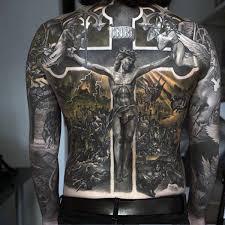 jesus on the cross religious tattoo male full back u2013 demon tattoos