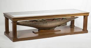 custom made coffee tables custom made coffee table with antique pond yacht model for sale at