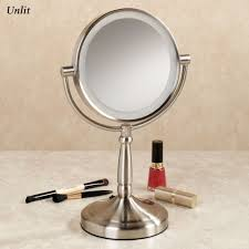 led lighted desk magnifying l cordless led lighted 10x magnifying vanity mirror