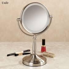 vanity led light mirror cordless led lighted 10x magnifying vanity mirror
