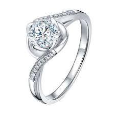 cincin emas putih jual tiaria flower twig diamond cincin emas putih 18k online