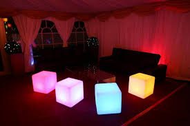 led cubes hire led cube seat and tables