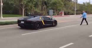 lego lamborghini aventador angry supercar hater throws rocks at lamborghini aventador video