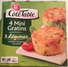 3 fr cote cuisine 4 mini gratins 3 légumes côté table 480 g