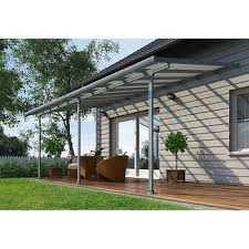 White Vinyl Pergola Kits by Pergolas Costco