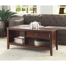 linon home decor wander cherry built in storage coffee table