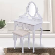 clearance homcom antique style shabby chic dressing table with