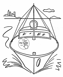 coloring page boat newcoloring123