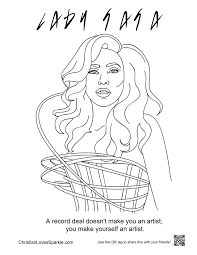 coloring pages gaga grace freddie and bjork album on imgur