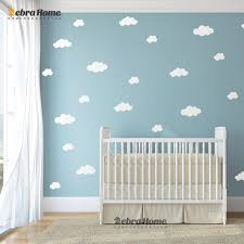 DIY White Cloud Wall Stickers Baby Nursery Bedrooms Home Decor Art
