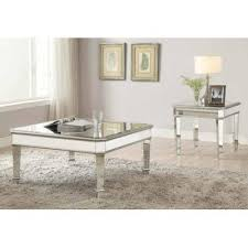 mirrored end table set rosdorf park claremont 2 piece coffee table set products