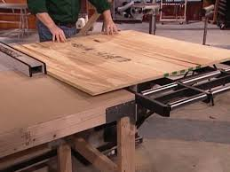 wood table saw stand using a roller stand and outfeed table diy