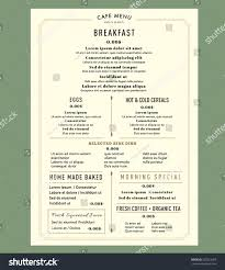 free blank menu template breakfast menu templates free blank free wedding guest list template