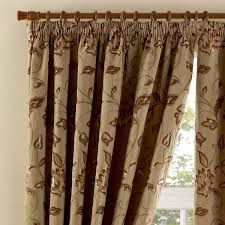 Brown Floral Curtains Curtina Maybury Floral Woven Pencil Pleat Lined Curtains Ebay