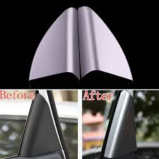 nissan altima yellow triangle high quality car window pillars cover buy cheap car window pillars