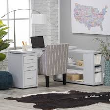 60 Inch L Shaped Desk Hudson L Shaped Desk White Hayneedle