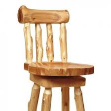 barstools made of cedar hickory and barnwood from fireside lodge