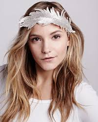 feather headband colette malouf embroidered feather headband silver