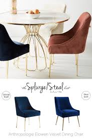 Anthropologie Dining Chairs Anthropologie Elowen Velvet Chair Arie Co