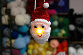 lighted santa ornament free pattern fromm me to you