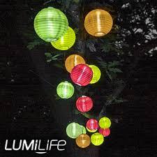 set of 10 led solar powered lanterns