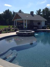 swimming pool with wading tanning shelf aqua bello designs