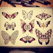 image result for geometric butterfly ink ideas