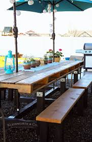 Outdoor Pallet Table Diy Pallet Outdoor Dining Table Kleinworth U0026 Co