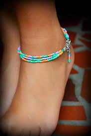 beaded ankle bracelet images Bohemian ankle bracelet stackable seed beaded summer anklet hippie jpg