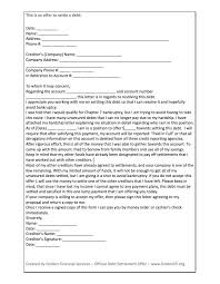 debt negotiation letter template 28 images settlement