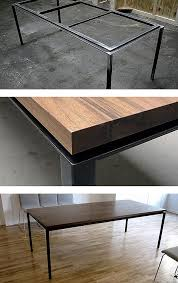 steel and wood table 469 best big table images on pinterest dining room tables dining
