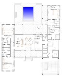 1 story plans with courtyard villa collection flatfish island first floor