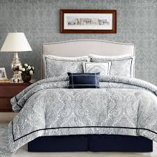 Blue And White Comforter Total Fab Navy Blue And White Comforter And Bedding Sets