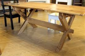 X Table Base X Cross Trestle Base Table Farmhouse Boston By Ecustomfinishes