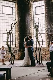 wedding backdrop modern modern industrial venue warehouse ceremony arbor backdrop