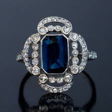 saphire rings antique cabochon sapphire diamond engagement ring antique