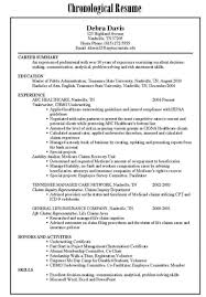 cover letter combination resume example combination resume
