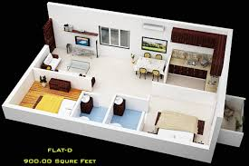 home design plans indian style 800 sq ft wonderful home plan 3d 2bhk ideas image design house plan