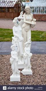 alabaster or marble statues and garden ornaments for sale at stock