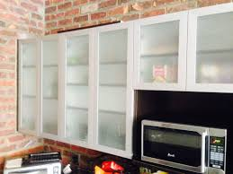 Glass Cabinet Kitchen Plain White Glass Door Kitchen Cabinets Tips On Cabinet Doors To