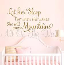 Nursery Sayings Wall Decals Let Sleep Saying Wall Decal Baby Nursery Saying Vinyl