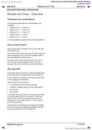 tire pressure ford kuga 2011 1 g workshop manual