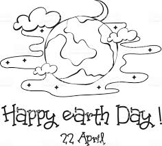 happy earth day sketch hand draw vector illustration stock vector
