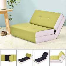 flip out sofa bed costway fold down chair flip out lounger convertible sleeper bed