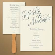 wedding ceremony fan programs programs for your wedding ceremony nashville garden wedding