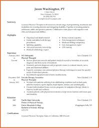physical therapist resume occupational therapy resume template medicina bg info